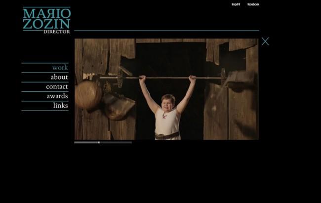 Web-Portfolio für den Regisseur Mario Zozin