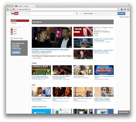 Neuer YouTube-Look
