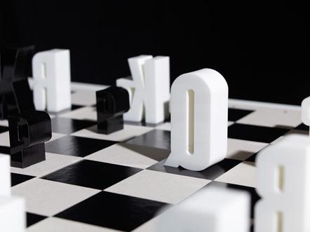 Bild Typo-Schachspiel