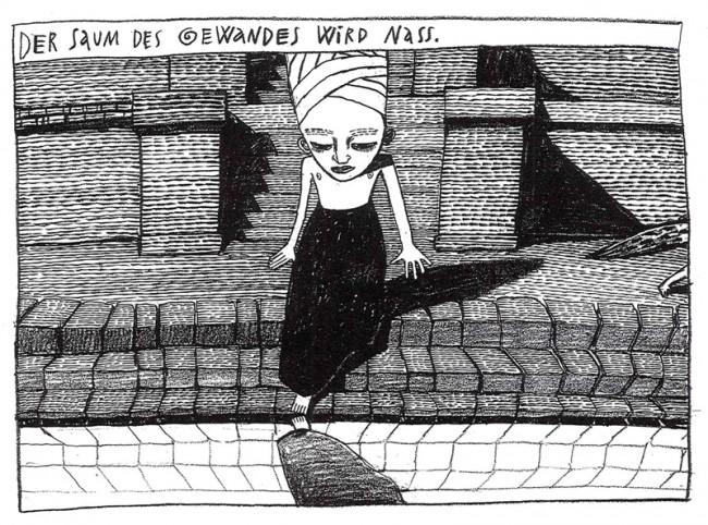 © Anke Feuchtenberger, Das Gewand der Königin, Strapazin Nr. 41, 1995