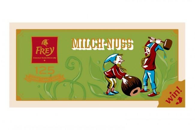»MilchNuss« Schokolade von Frey