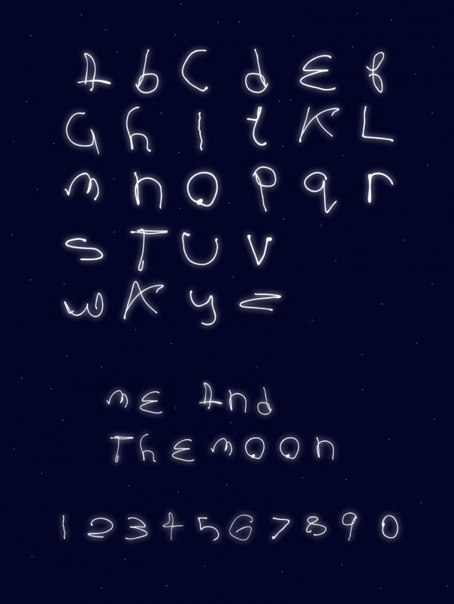 Me & the Moon Typeface, Love Design Ident, http://www.lovedesign.ie/