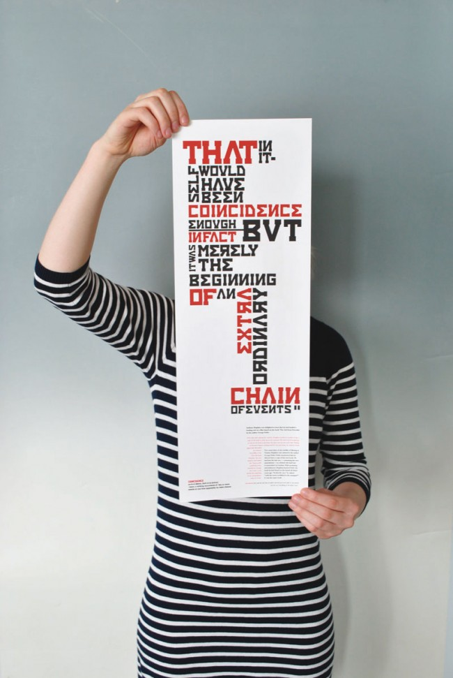 ISTD Chains, ISTD International Society of Typographic Designers Student Assessment Scheme Entry