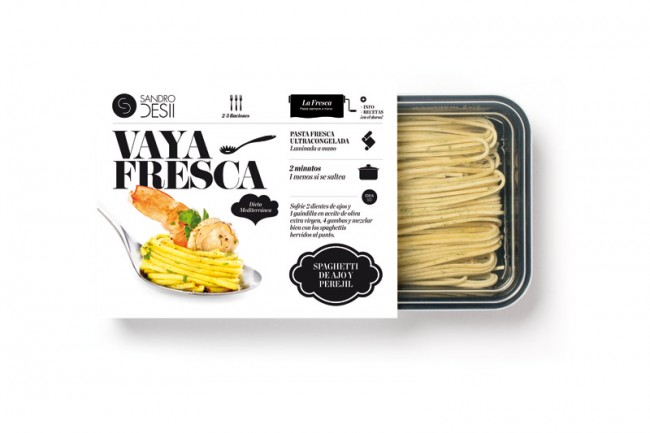 Packaging for Sandro Desii's Fresh Pasta