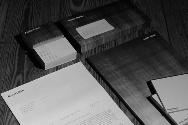 Geschäftsausstattung Atelier Disko, 2012