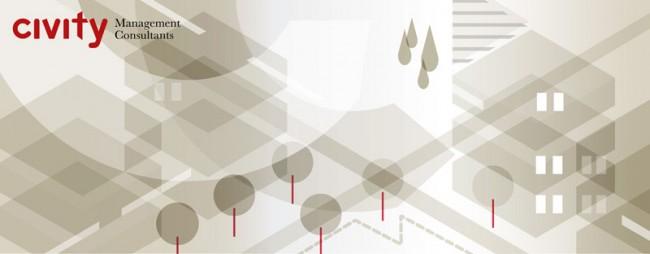 Gestaltung der Illustrationswelt für die Unternehmensberatung civity aus Hamburg und Berlin, 2011