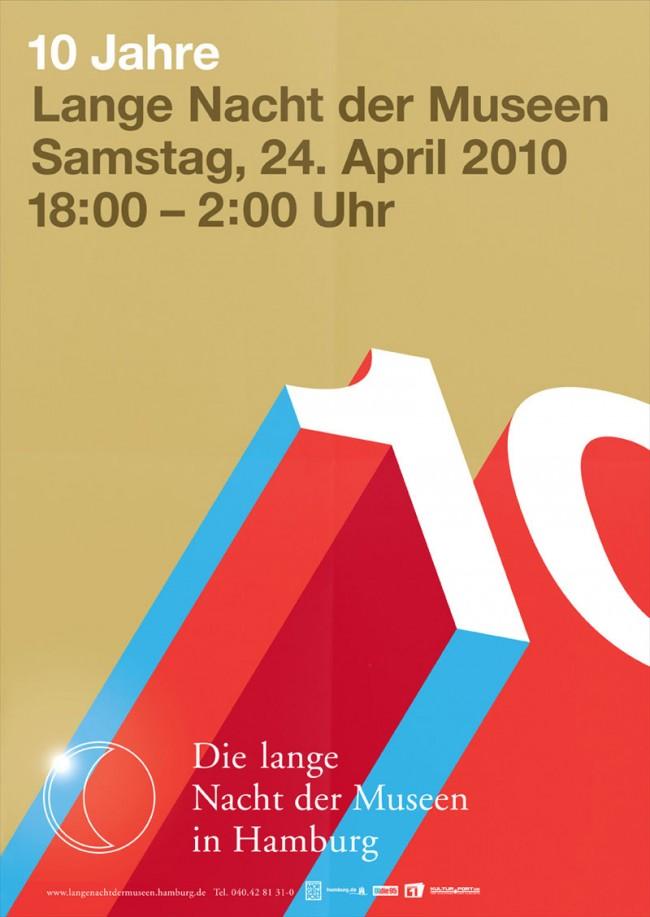 Plakatgestaltung für die Lange Nacht der Museen Hamburg, Kunde: Museumsdienst Hamburg, 2012
