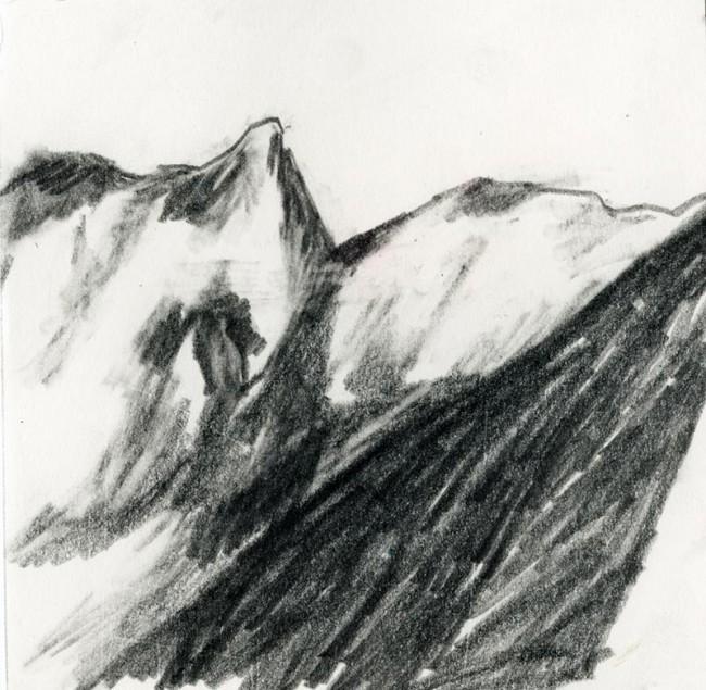 »La Montagne« Bleistift auf Papier