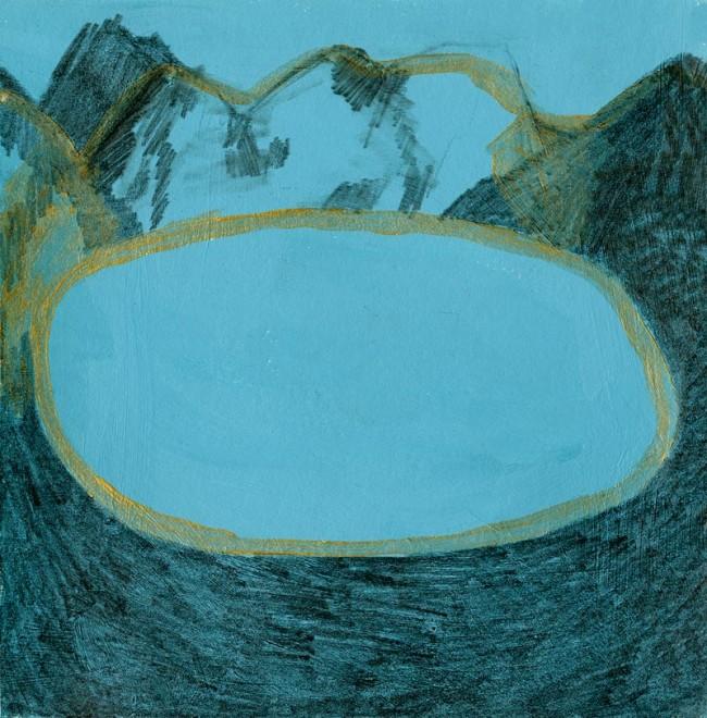 »Lac de Montagne« Bleistift,Acryl auf Papier