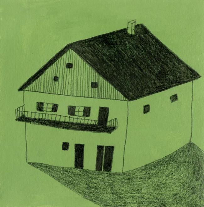 »Maison« Bleistift, Acryil auf Papier