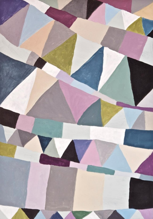 »Triangles« Acryl auf Holz