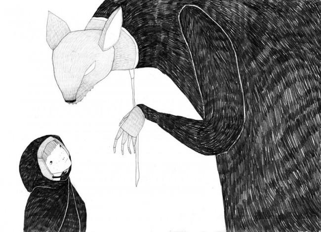 »Wario« Illustration aus dem Buchprojekt »Zozette« Bleistift auf Papier