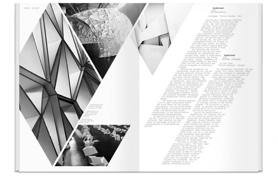 Ausstellungskatalog zur Ausstellung »Architekturteilchen – Modulares Bauen im digitalen Zeitalter« im Museum für Angewandte Kunst Köln