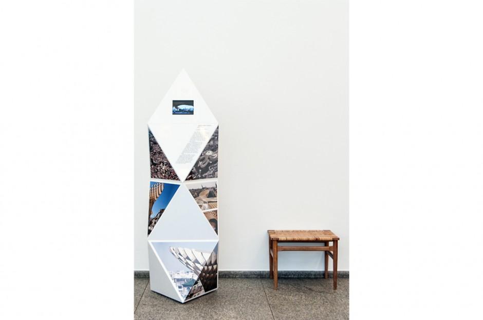 Ausstellungssystem »Architekturteilchen –Modulares Bauen im digitalen Zeitalter« im Museum für Angewandte Kunst Köln,  Ausstellungs-Konzept: Studyo Architects, responsive design studio