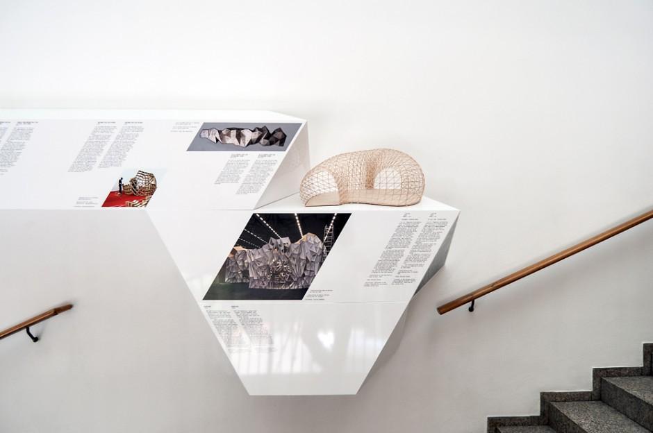 Ausstellungssystem »Architekturteilchen – Modulares Bauen im digitalen Zeitalter« im Museum für Angewandte Kunst Köln,  Ausstellungs-Konzept: Studyo Architects, responsive design studio
