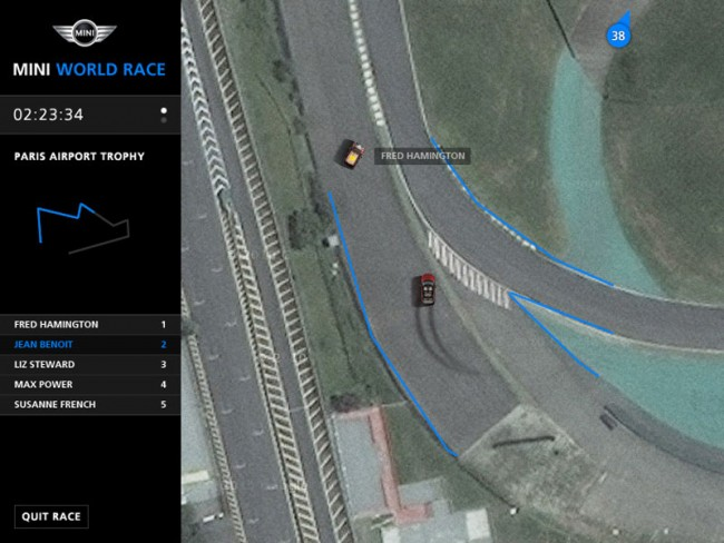 MINI Maps ist ein Multiplayer-Spiel für die Britische Automobil-Ikone MINI. Dabei können mehrere Spieler in echtzeit via Google Map rund auf dem Globus Autorennen halten.