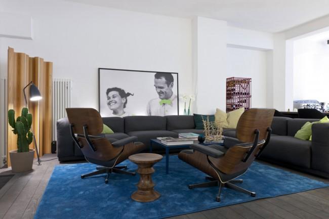 Lounge mit Foto von Ray und Charles Eames, Foto: punct object