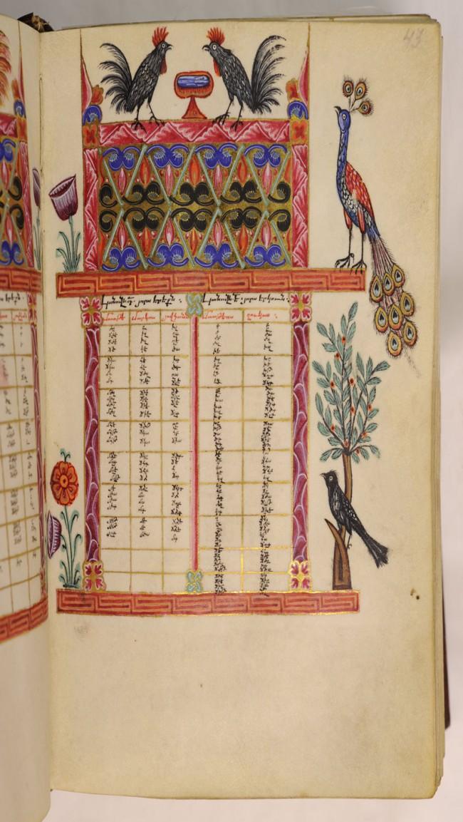 Evangeliar aus Awetaran, Mitte 17. Jahrhundert, Kanontafel.