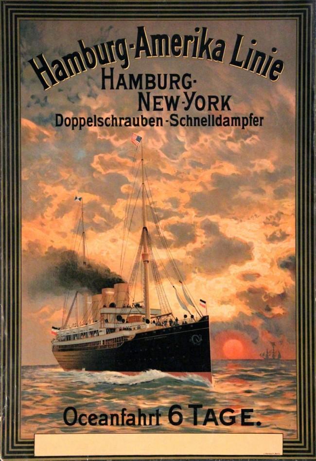 Kitsch Kunst - Hamburg-Amerika Linie