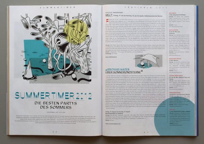 Illustration für den Festival-Guide 2012 des Magazins »Groove«