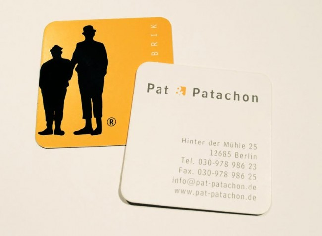Kreative Visitenkarten Page Online