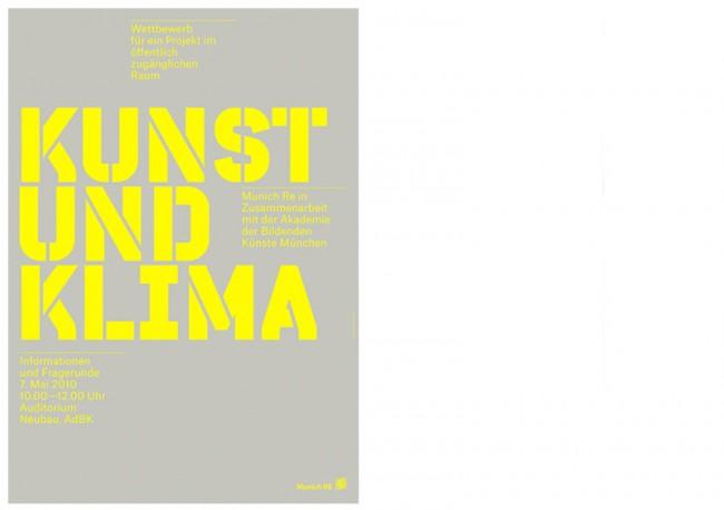 Munich Re, Kunst und Klima, Plakat und Ausstellungsgestaltung