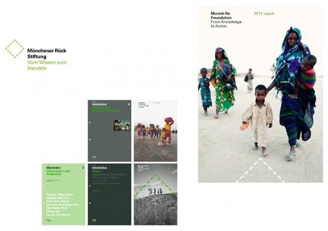 Münchener Rück Stiftung, Corporate Design und Publikationen