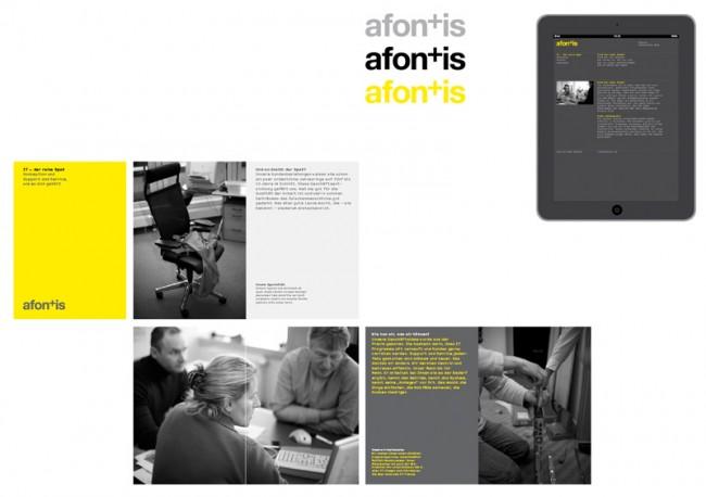 Afontis, Corporate Design für ein IT Unternehmen