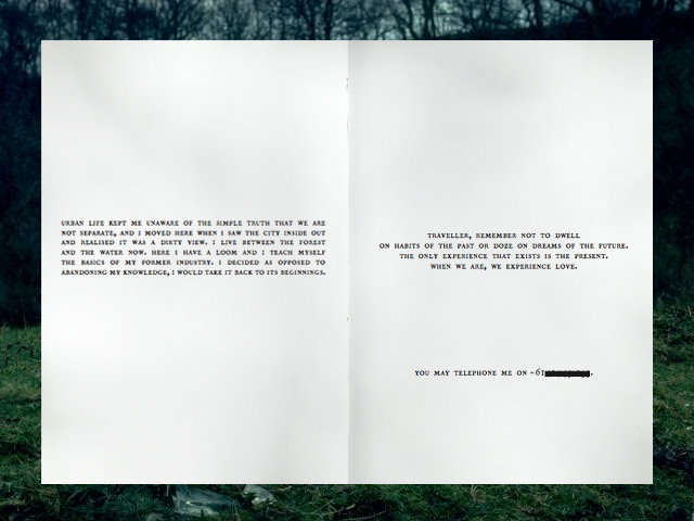 »For you the Traveller«: Wye