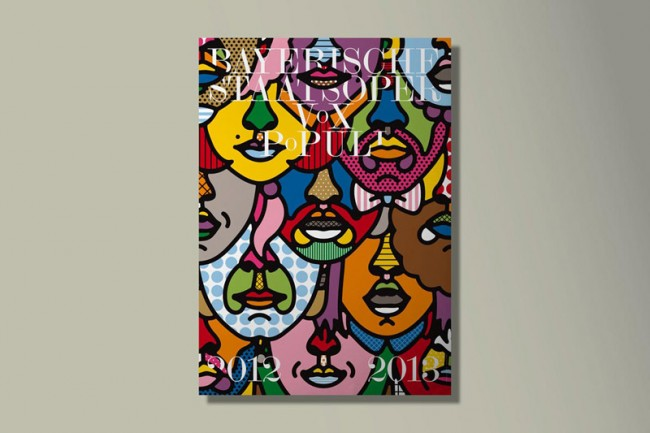 »Vox Populi« Spielzeitplakat © Bureau Mirko Borsche