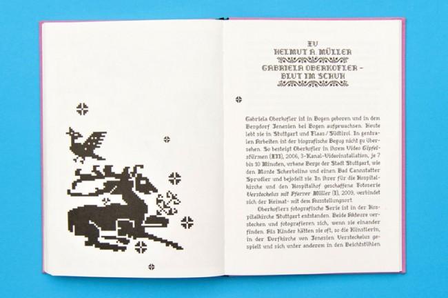 BLUT IM SCHUH, März 2010, Buchgestaltung für die Künstlerin Gabriela Oberkofler