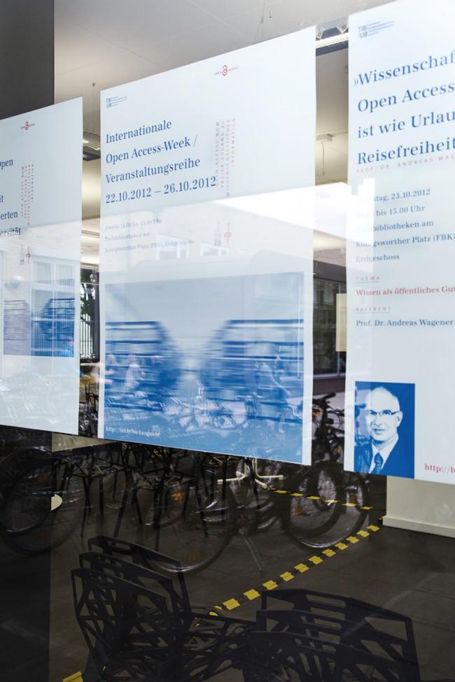 Corporate Design für die Veranstaltungsreihe »International Open Acces Week« für: Technische Informationsbibliothek und Universitätsbibliothek Hannover (TIB/ UB)