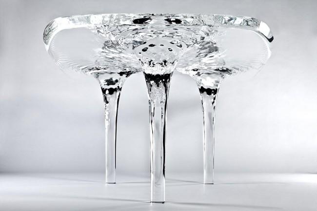 LIQUID GLACIAL TABLE Designed by Zaha Hadid