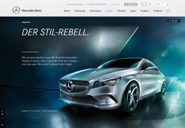 Mercedes-Benz.com, Scholz & Volkmer: Bronze in der Kategorie Digitale Medien