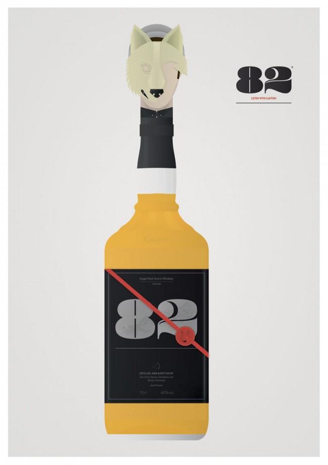 Illustration |Lyrics in Bottles (Serie) | Casper (Musiker) | Freie Arbeit (Student)