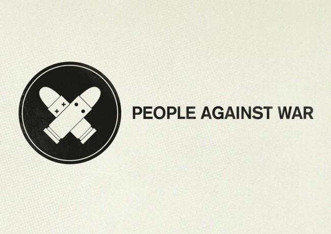 Logo für eine gemeinnützige Organisation (Titel: People Against War)