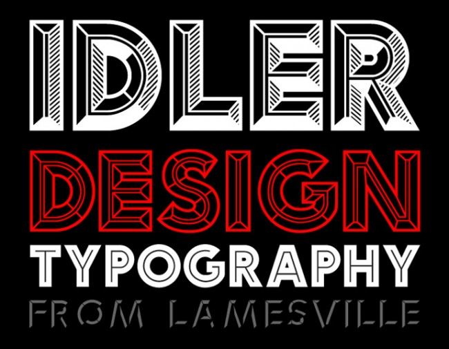 Platz 6: »Idler« von Lamesville | http://www.hypefortype.com/idler.html