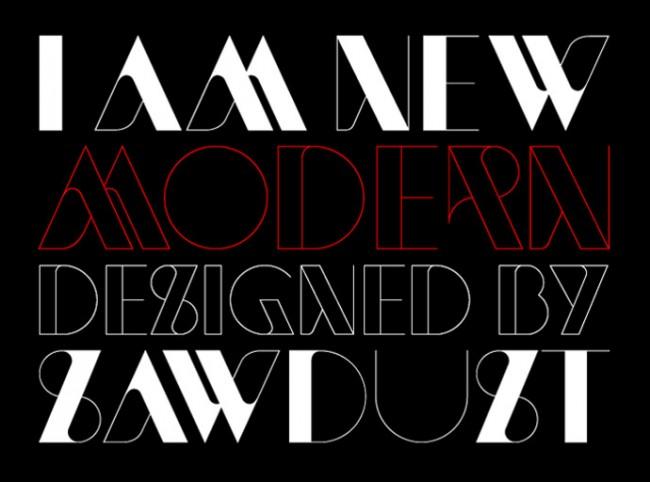 Platz 8: »New Modern« von HypeForType | http://www.hypefortype.com/sawdust-newmodern.html