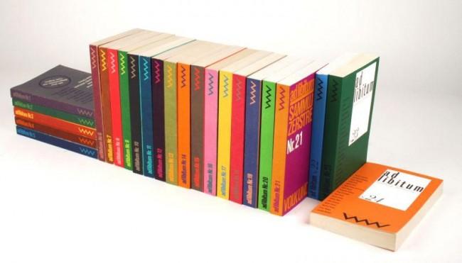 Taschenbuchreihe ad libitum, Verlag Volk und Welt Berlin, 1985 bis 1992, Einbandentwurf Joachim Völkner, Reihengestaltung Jörg Brosig