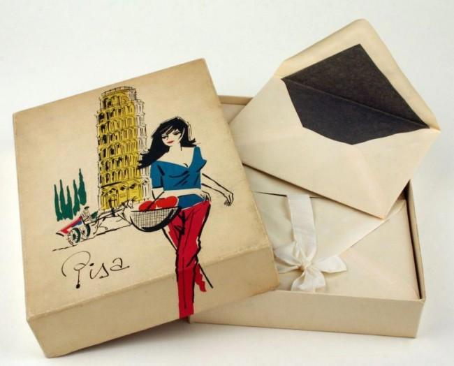 Briefpapier-Geschenkpackung Pisa, 1970er Jahre