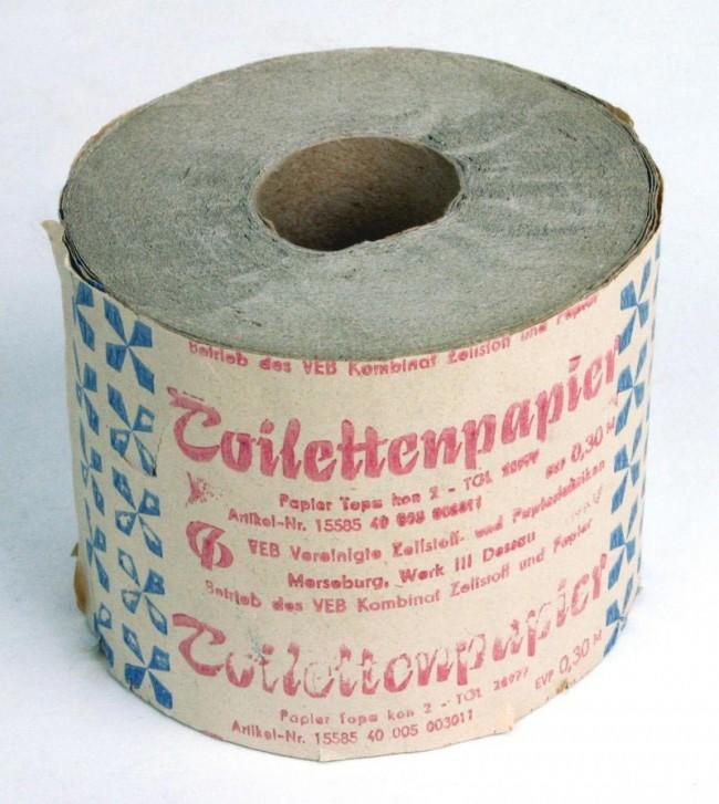 Toilettenpapier - Rolle, HerstellerVEB Kombinat Zellstoff und Papier, DDR, 1980er Jahre