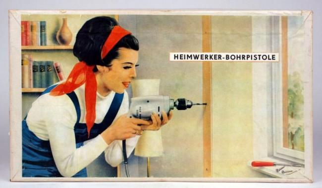 Handbohrmaschine HBM 250 Multimax, Design Wolfgang Dyroff, Hersteller VEB Elektrowerkzeuge und Apparate Sebnitz, 1963