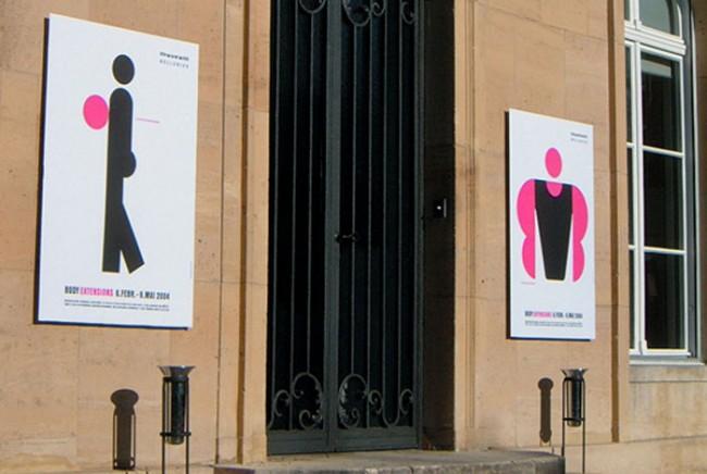 Aussenwerbung für die Ausstellung »Body Extensions« im Museum Bellerive, Zürich