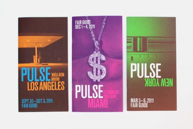 Programmhefte für die zeitgenüssische Kunstmesse PULSE in Miami und New York