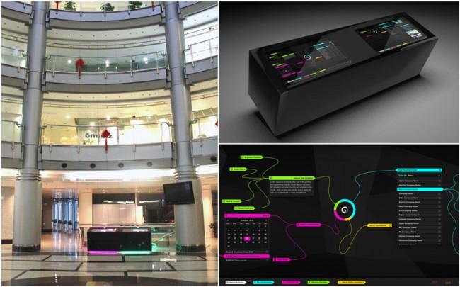 Multitouch Installation Besucherinformationssystem/German Centre Shanghai