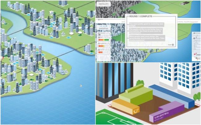Semizentral Metropol Multitouch App als Spiel/Institut IWAR der TU Darmstadt, BMBF