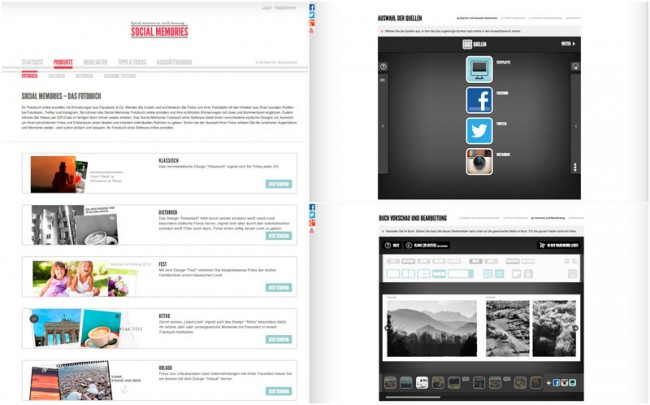 Social Memories Facebook Applikation/Deutsche Post AG