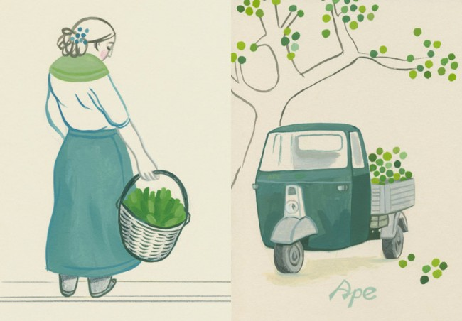 Portr t larissa bertonasco illustratorin page online - La cucina verde ...