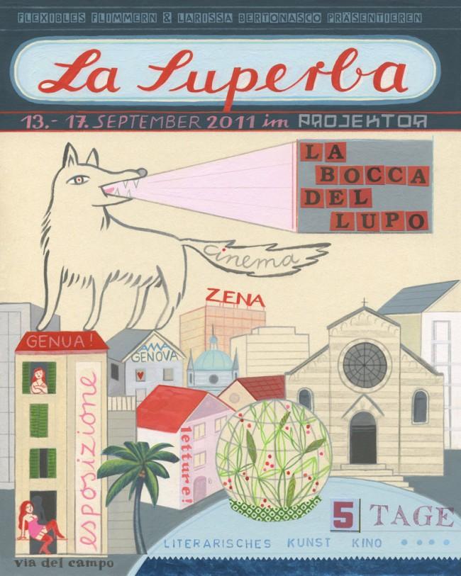 La Superba, Ausstellungspakaz