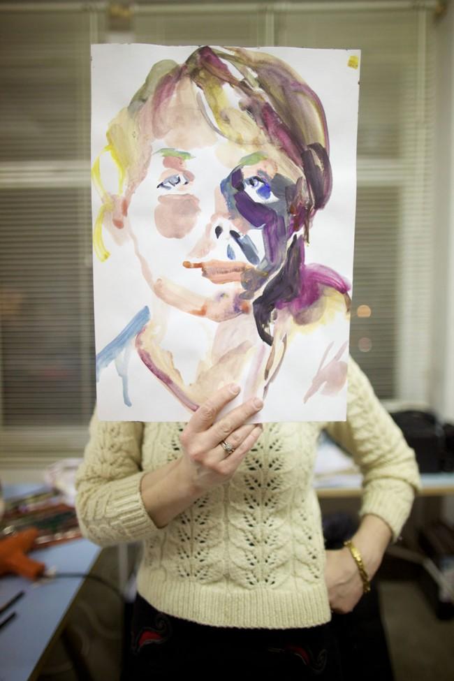 Projekt in Arbeit: ich plane momentan eine Ausstellung der Heiliger-Mittwoch-Portraits.
